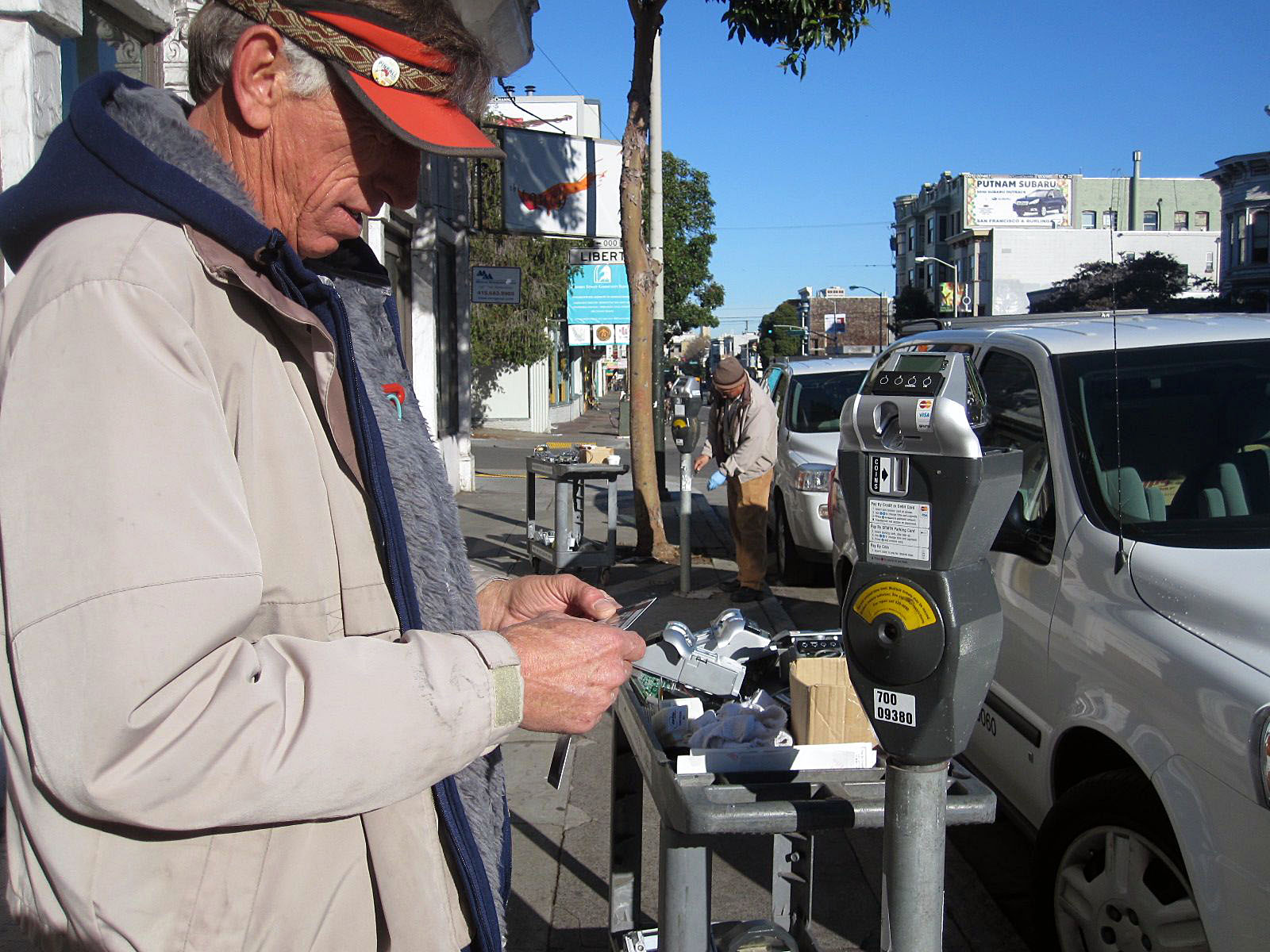 Vincent McGarey instailling the new smart meter