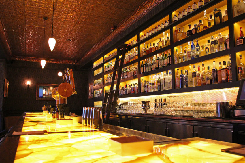 Photo shows a bar
