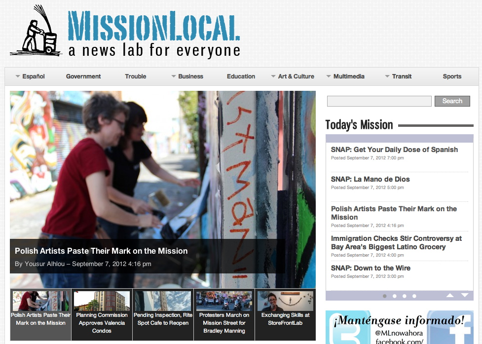 Photo of what Mission Local looks like today
