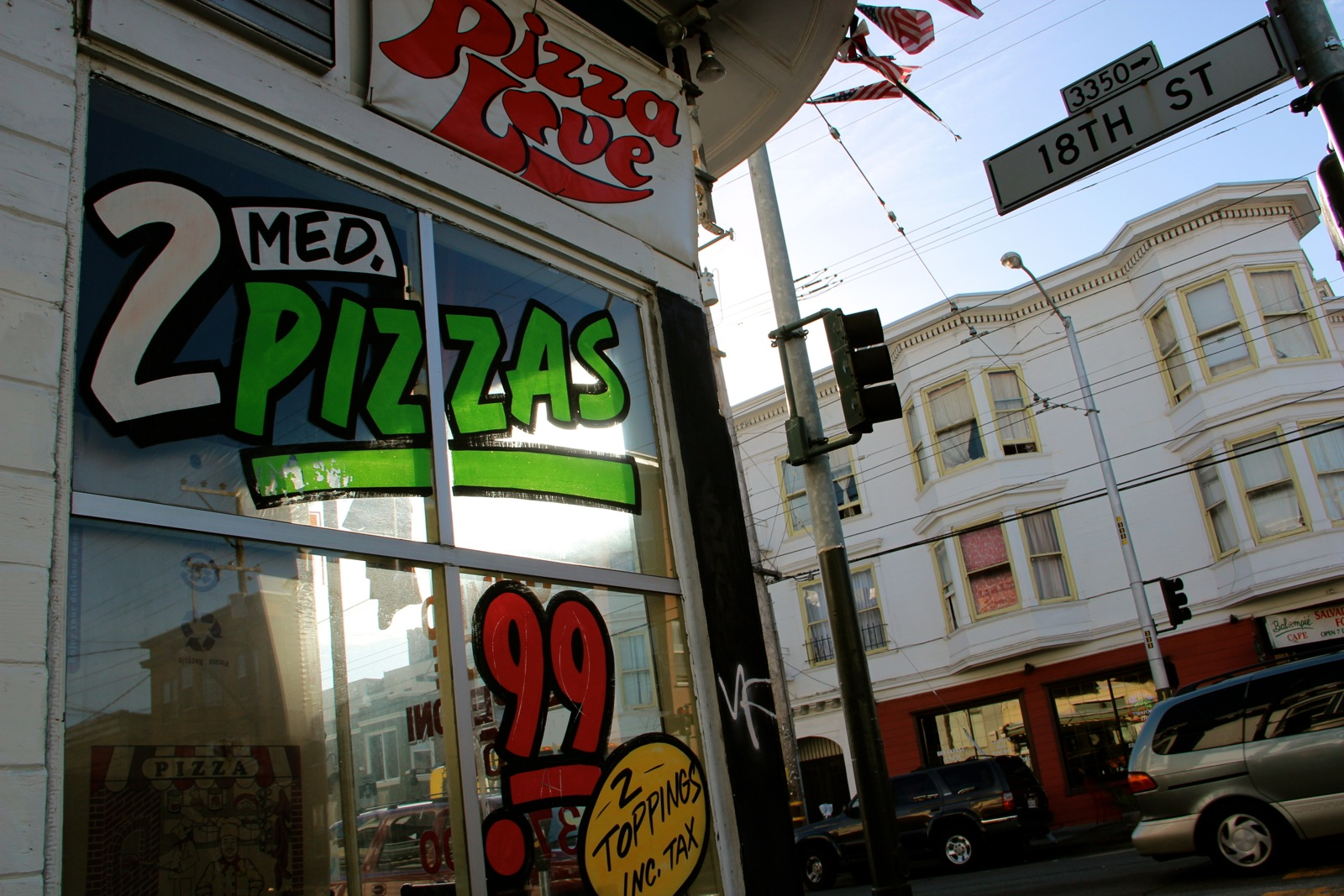 pizza love window display