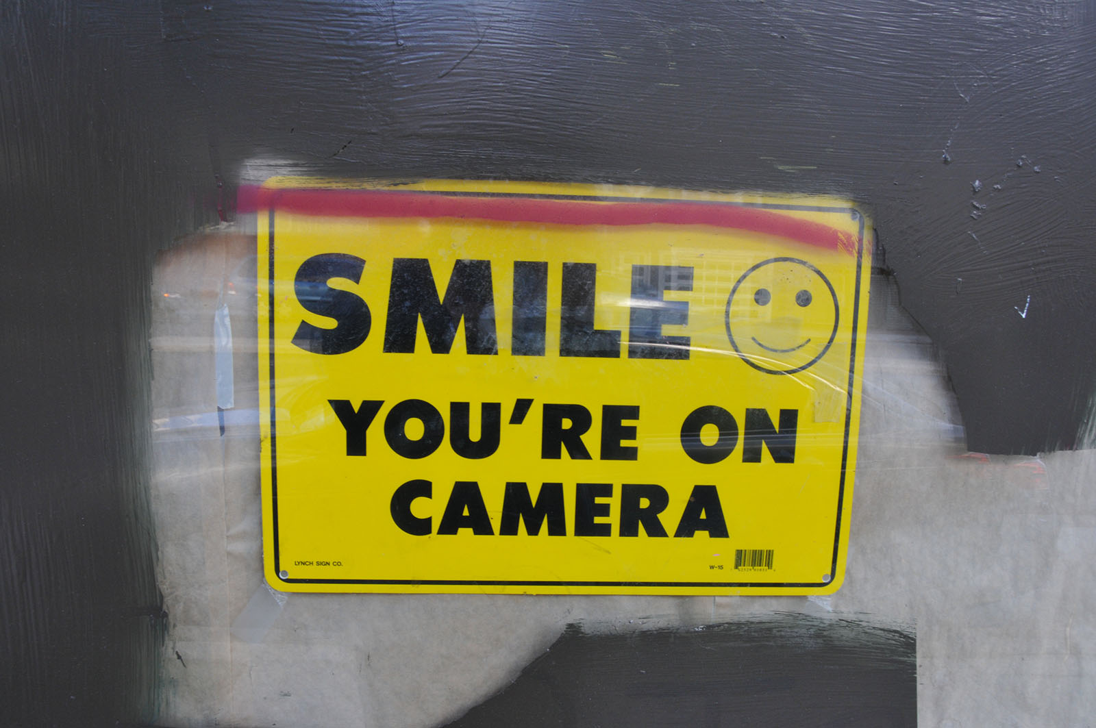 you're on camera sign