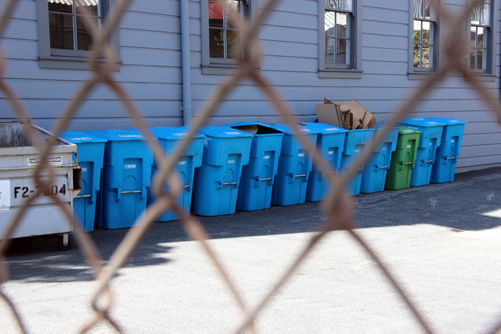 Recology recycling cans