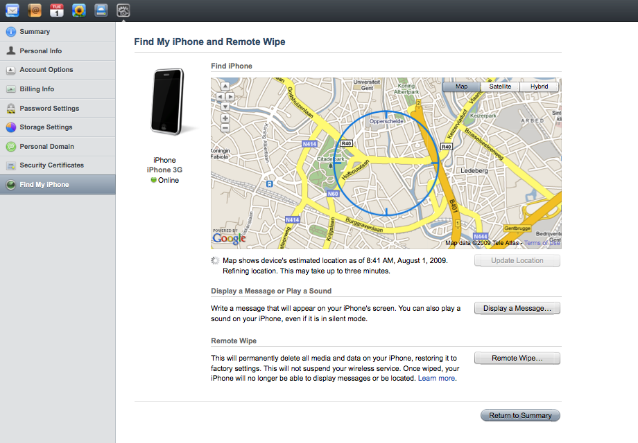 Photo of Find My iPhone app by lamazone.