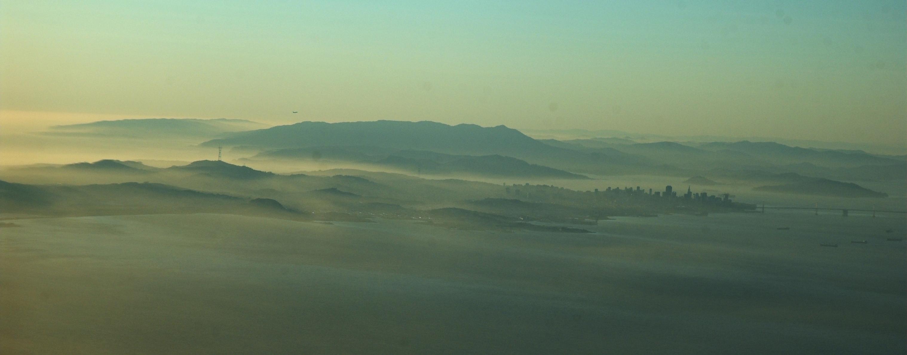 Photo of fog-covered San Francisco.
