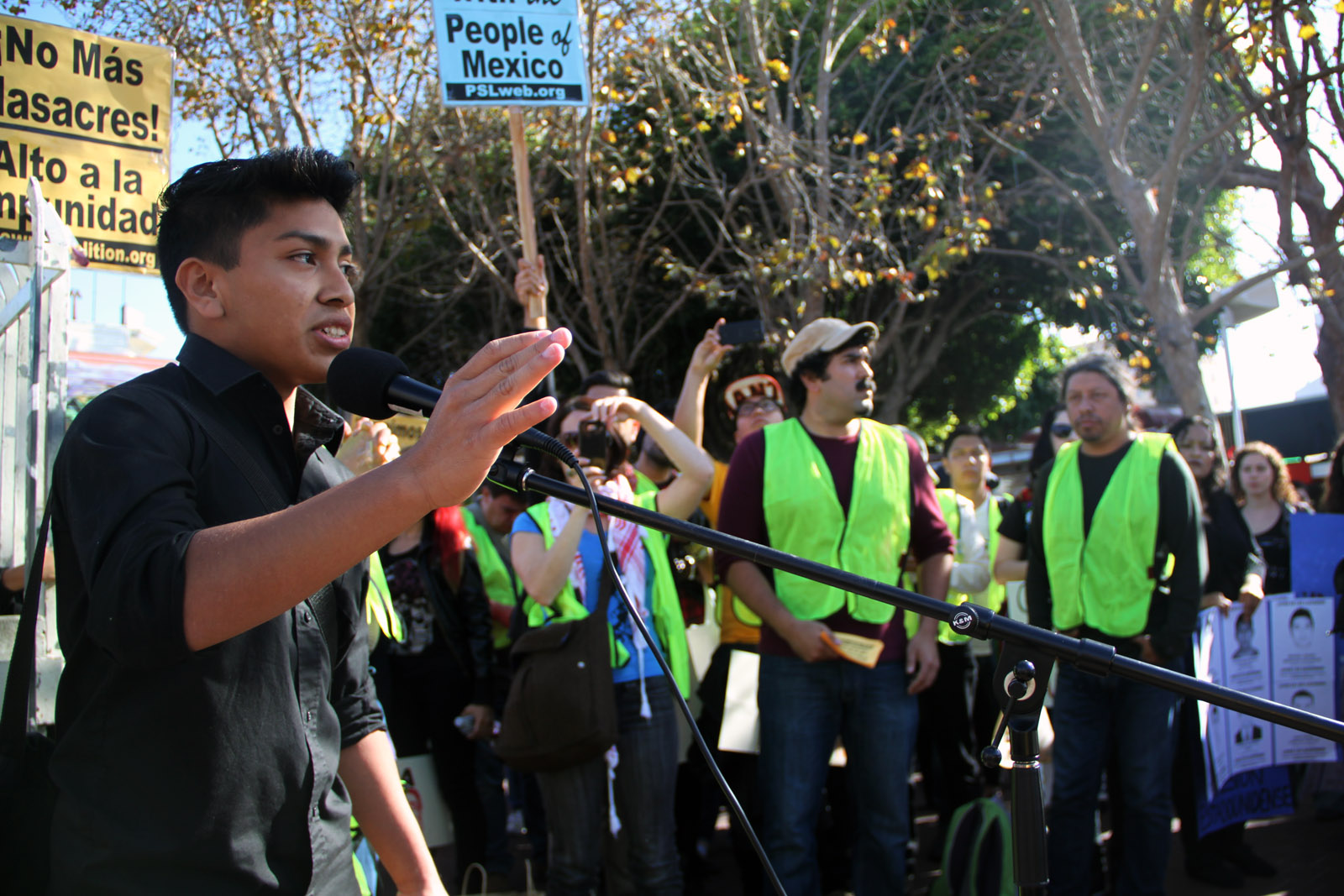 Students protested at a 2014 UC Berkeley rally on behalf of undocumented immigrants. Photo by Mission Local.