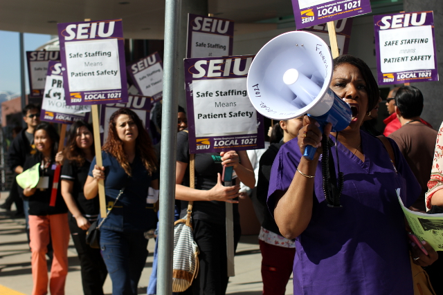 an SEIU strike