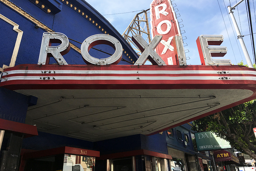 The Roxie Theater at 3117 16th St. Photo by Laura Waxmann