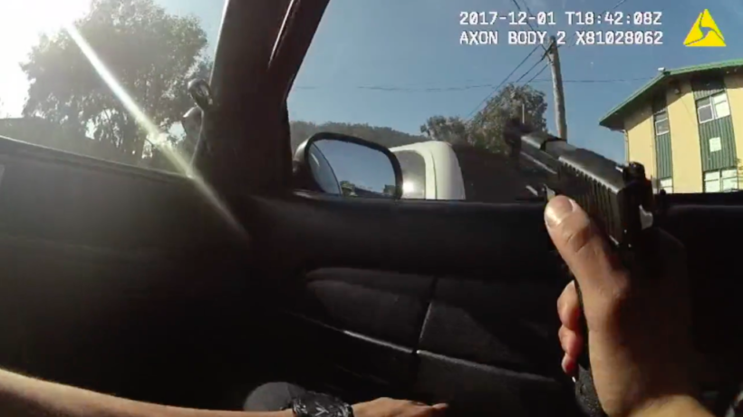 Dash cam footage from the Kieta O'Neil shooting.