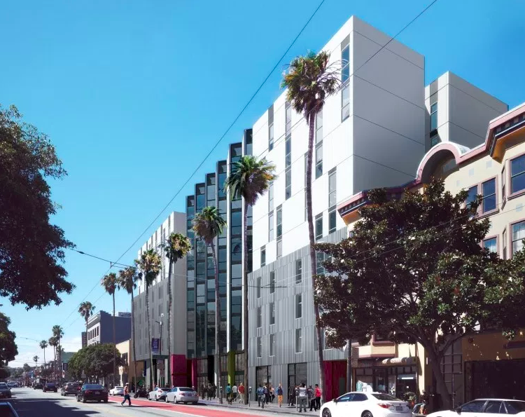 Initial designs for affordable housing at 1950 Mission Street.