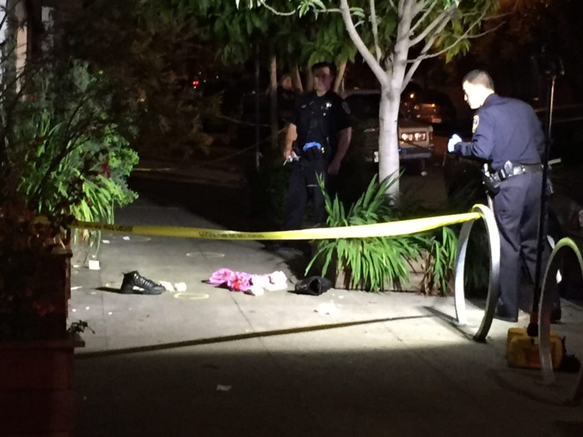 shooting scene in the mission