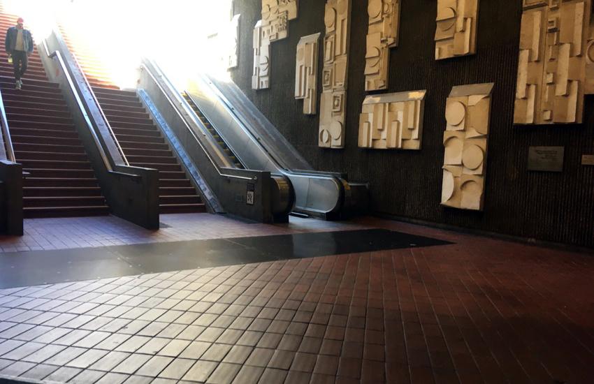 Broken BART escalators