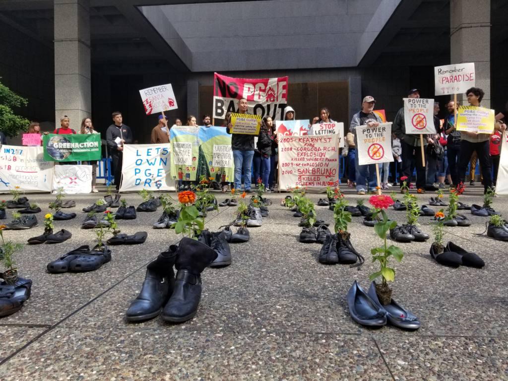 PG&E protest boots