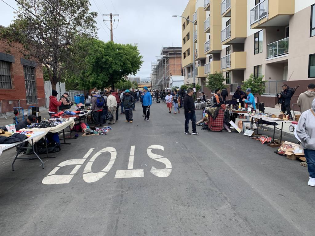 La Pulgita street market