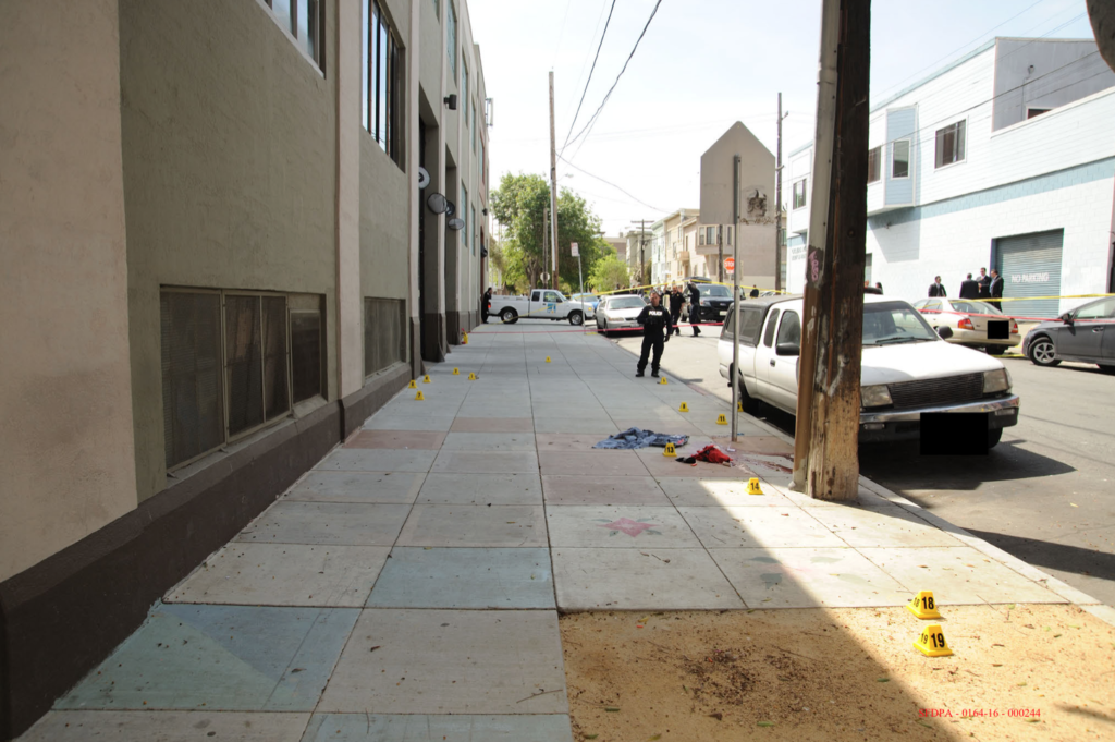 The place where Luis Gongora Pat was shot to death.
