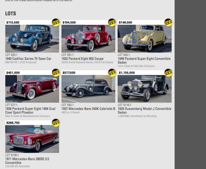 Academy of Art car sales
