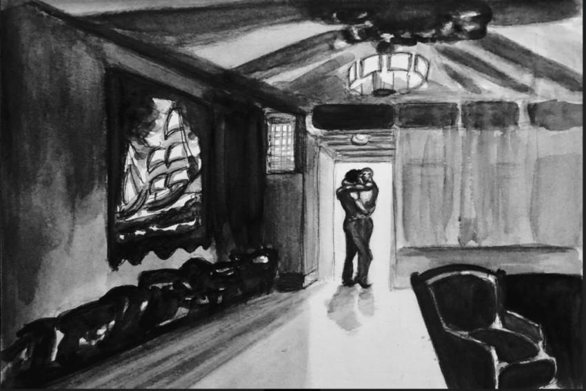 smooching at Virgil's Sea Room