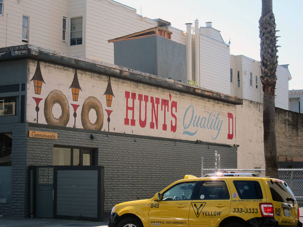 Prubechu paints over Hunt's Donuts mural