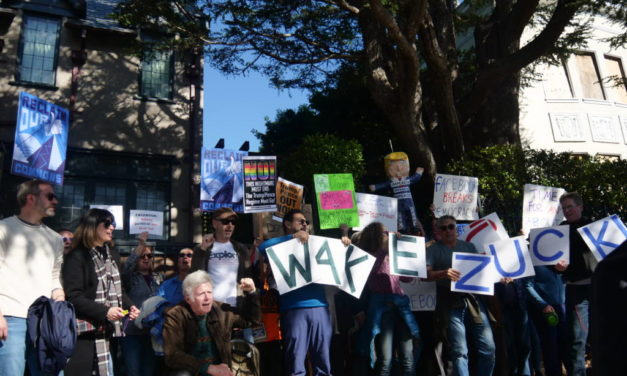 'Wake up, Zuck': Protesters gather outside of Facebook founder's home, demand regulation of political ads