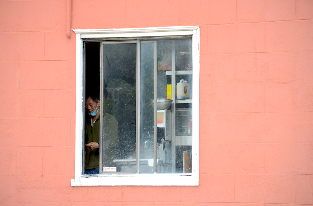 a man during shelter-in-place in Potrero hill