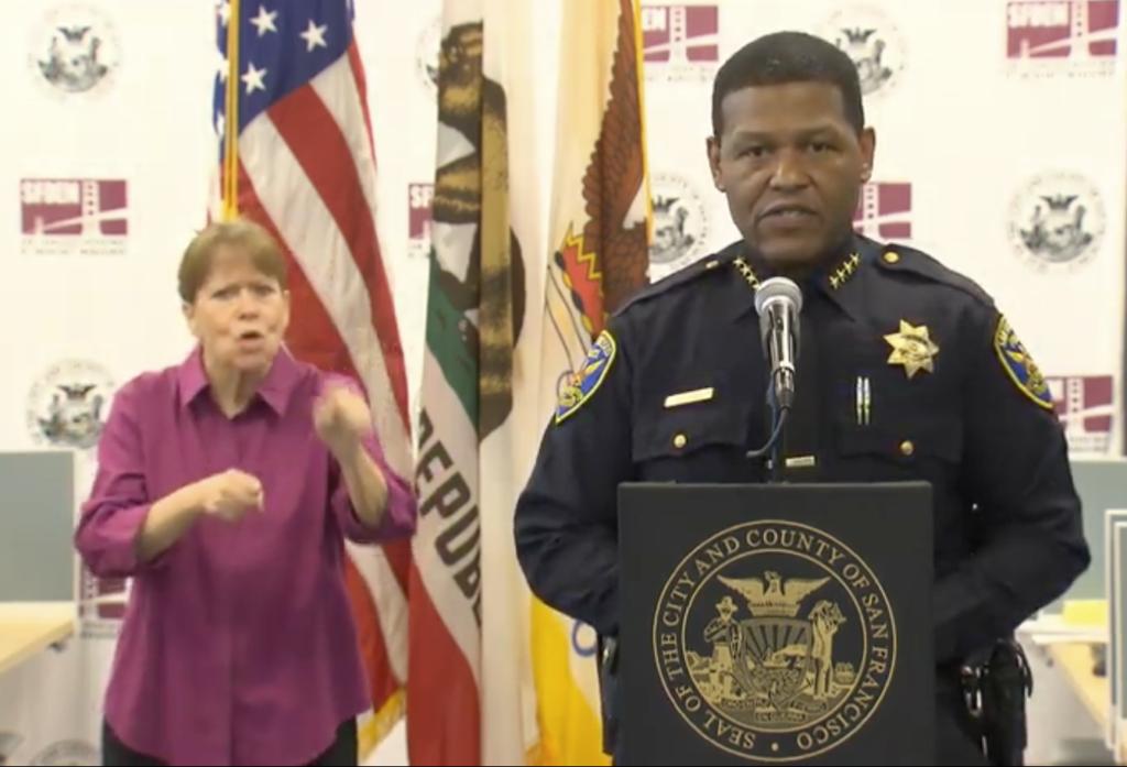 Chief Scott talking about curfew
