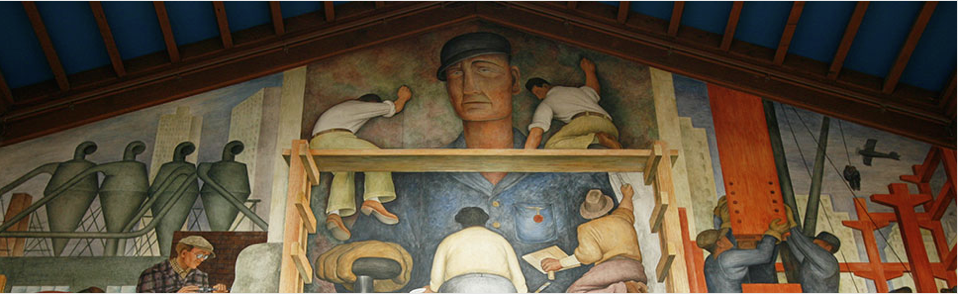 the Diego Rivera mural
