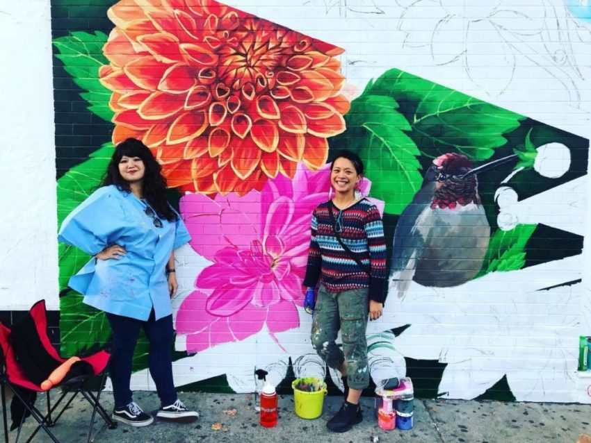 Marina Perez-Wong's cancer fighting mural