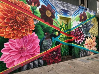 Rebirth of Coyolxauhqui cancer fighting mural