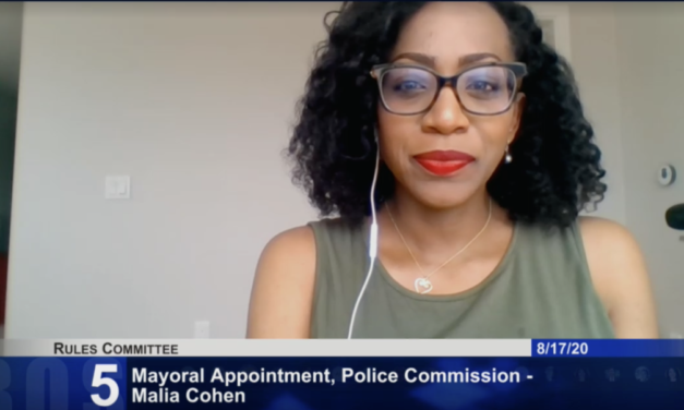 Malia Cohen stakes out her positions on police reform — glides toward Police Commission appointment