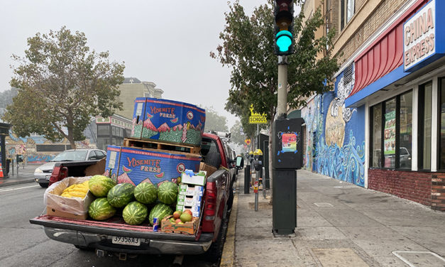 Neighborhood notes:  new mural, drive-in movies, watermelons