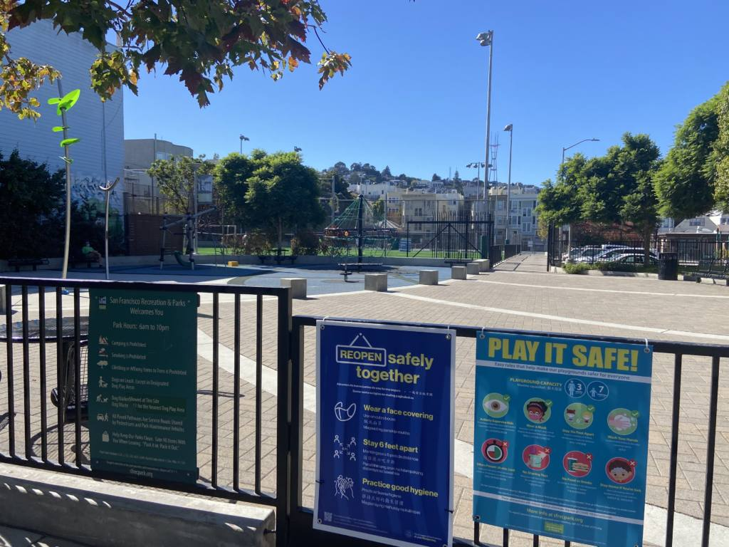 SF playgrounds reopen