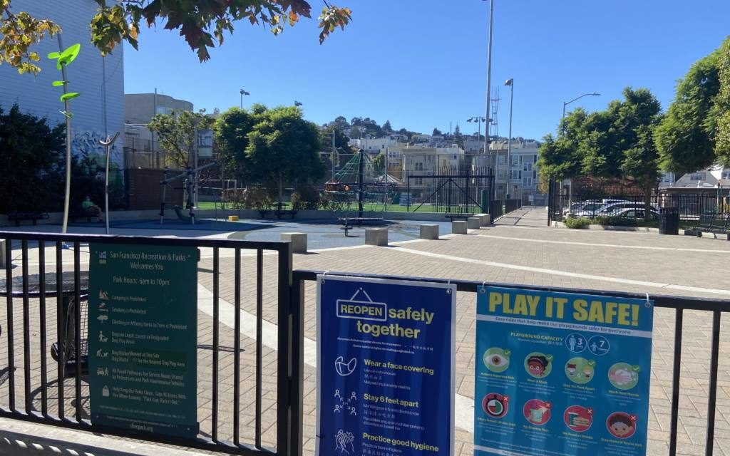 Mission kids head back to city's reopened playgrounds