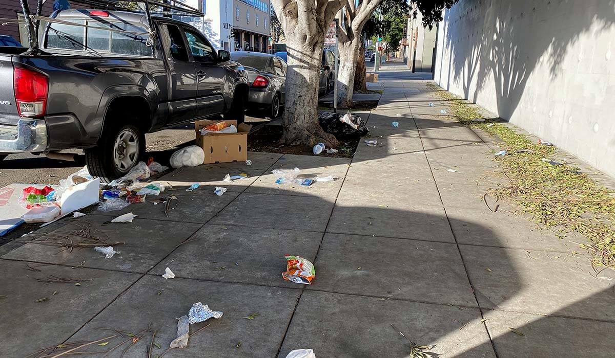 Newsom's experiment to get rid of public trash bins in San Francisco seems to have failed - Mission Local
