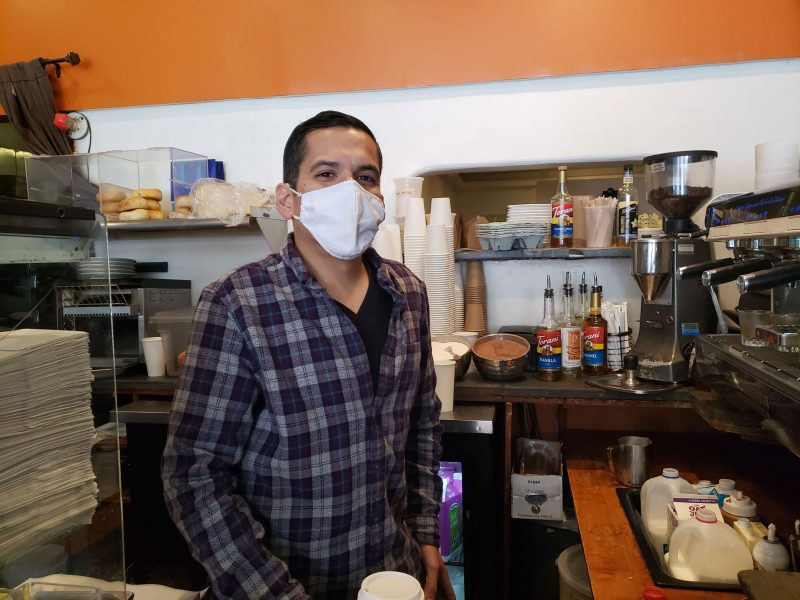 Manager Carlos Martinez at La Taza, waiting for June 15