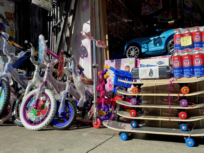 scooters and skateboards on mission street