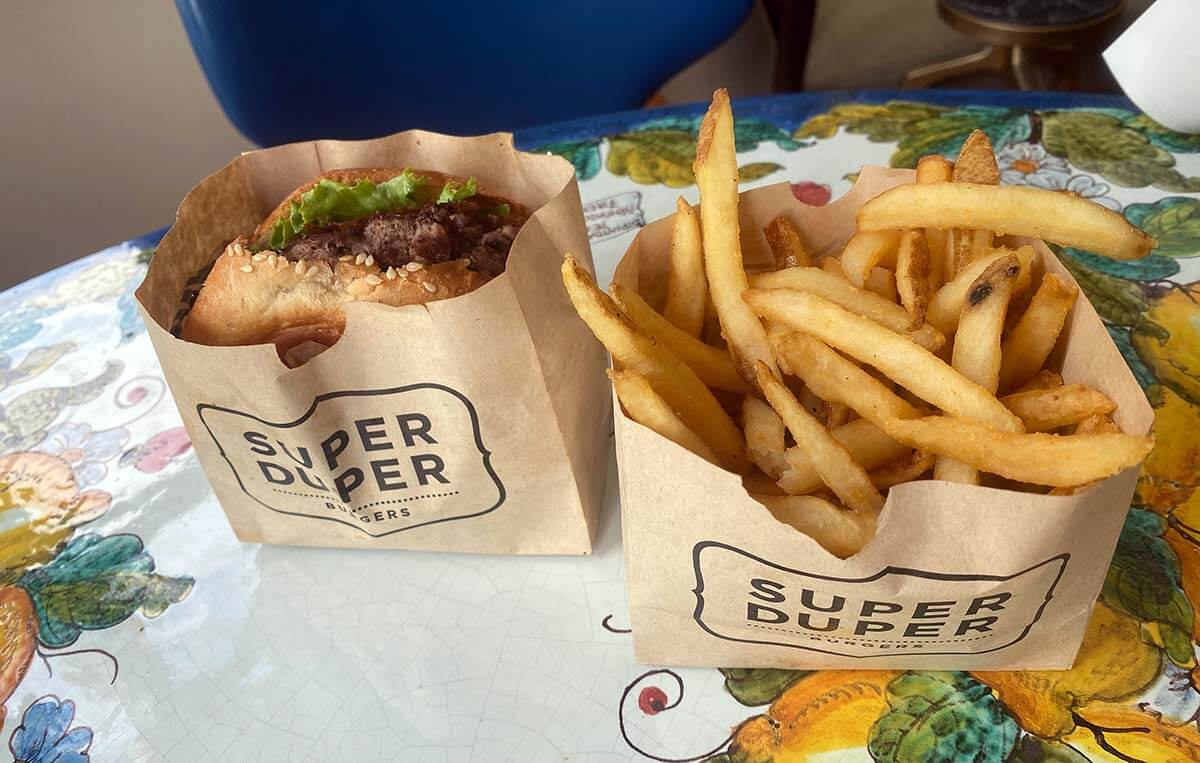 Super Duper Fries and Burger from Super Duper on Market Street in the Castro.