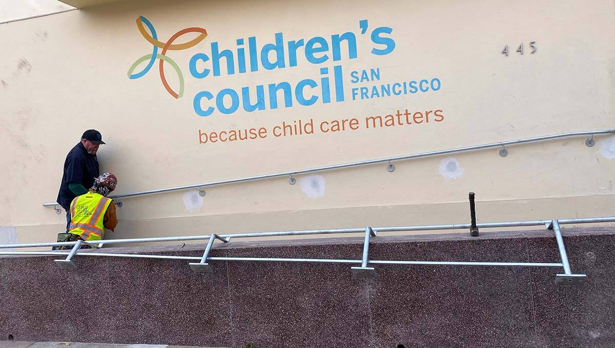 New rails at the Children's Council in SF.
