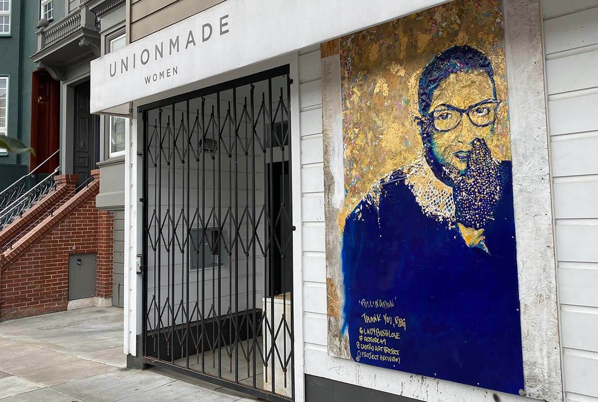 RBG on 18th Street in icon-like mural