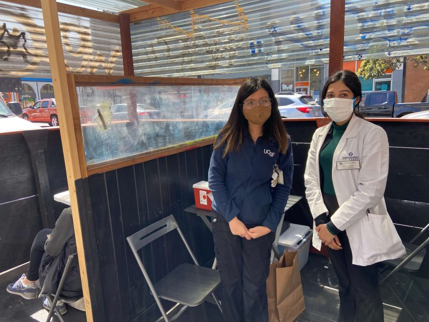 Vaccine site at Cafe La Taza