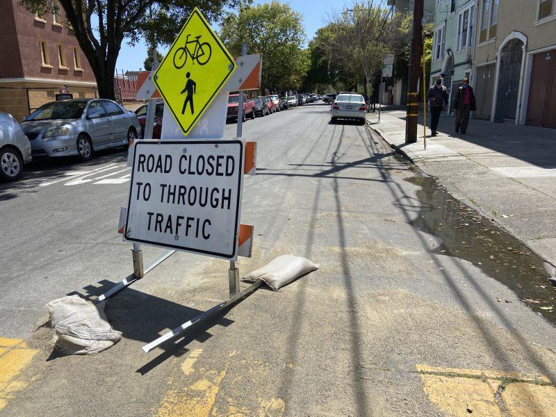 Slow Street on Shotwell. Barrier