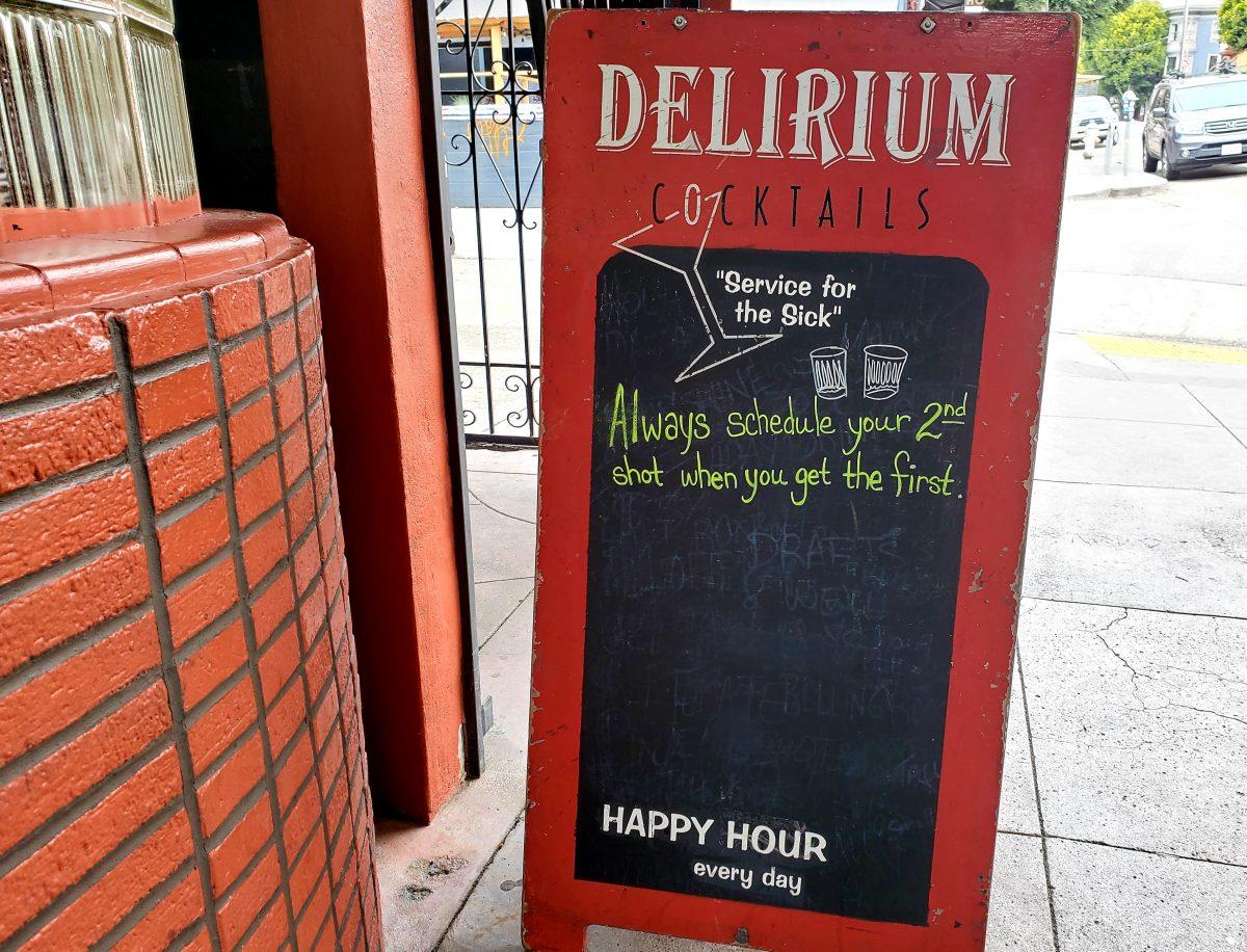 Sign at Delirium