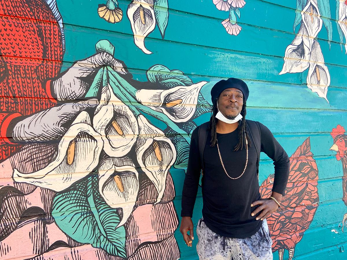 Diamond Vibes, as captured by Clara-Sophia Daly. Afrolicious musician San Francisco, CA.