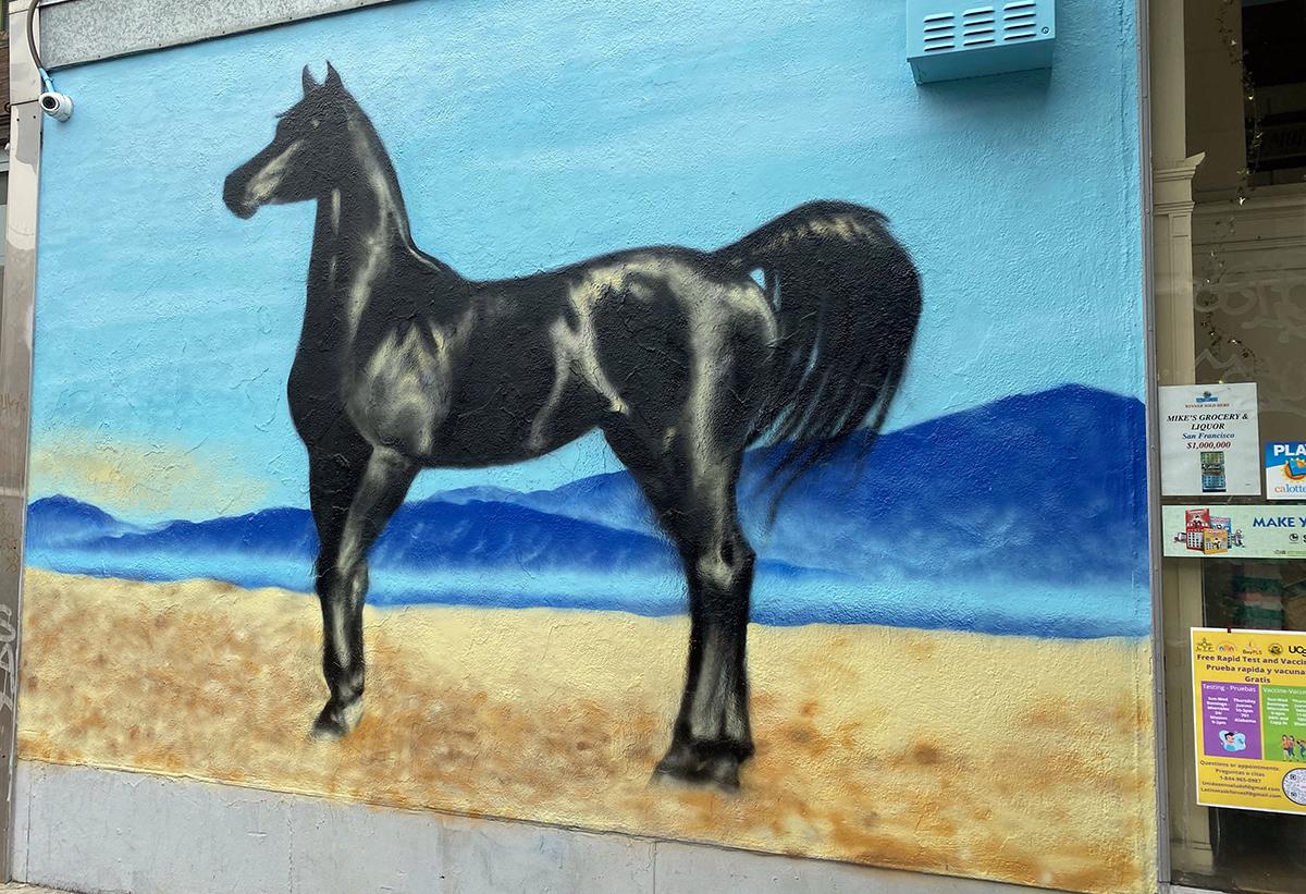 Stallion mural on Mission Street