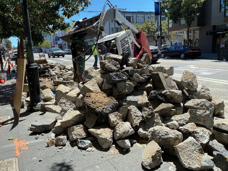 Valencia Street construction