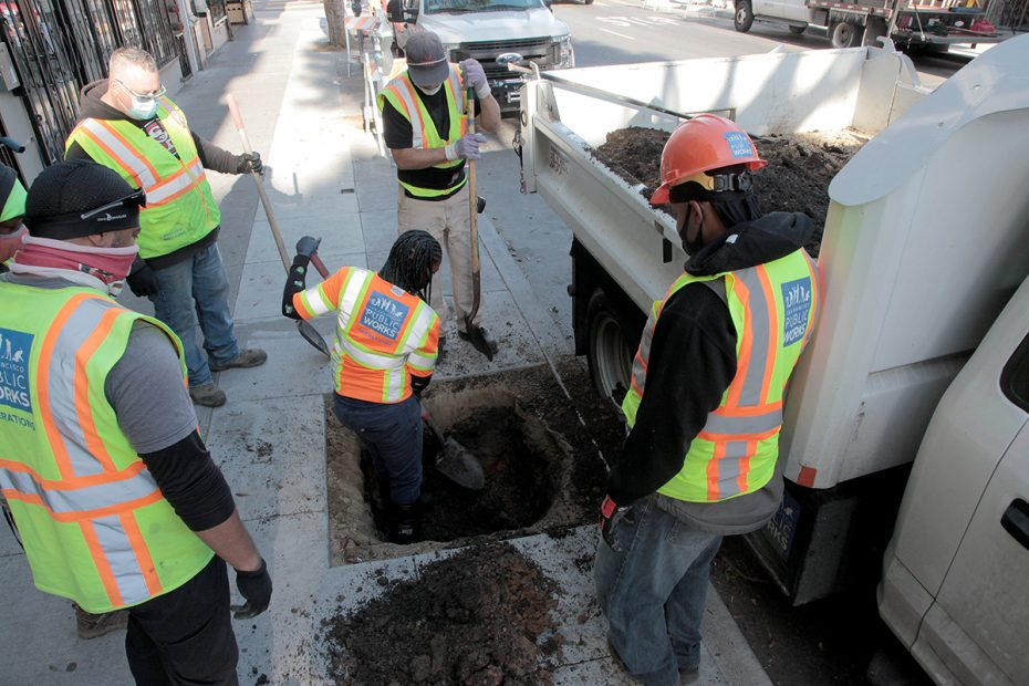 Digging the hole on 24th Street