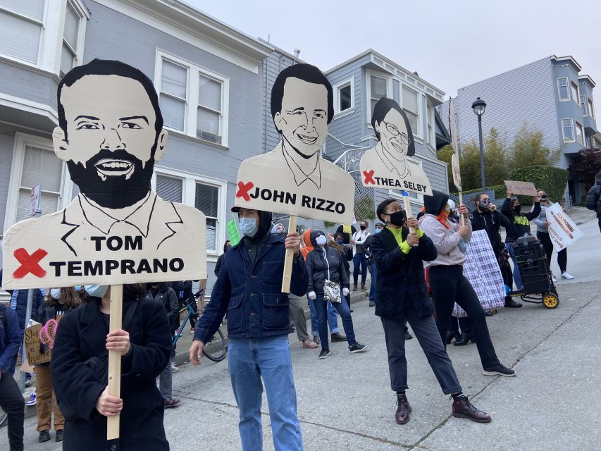 Tom temprano, city college, ccsf, protest, rally, black, aapi, asian