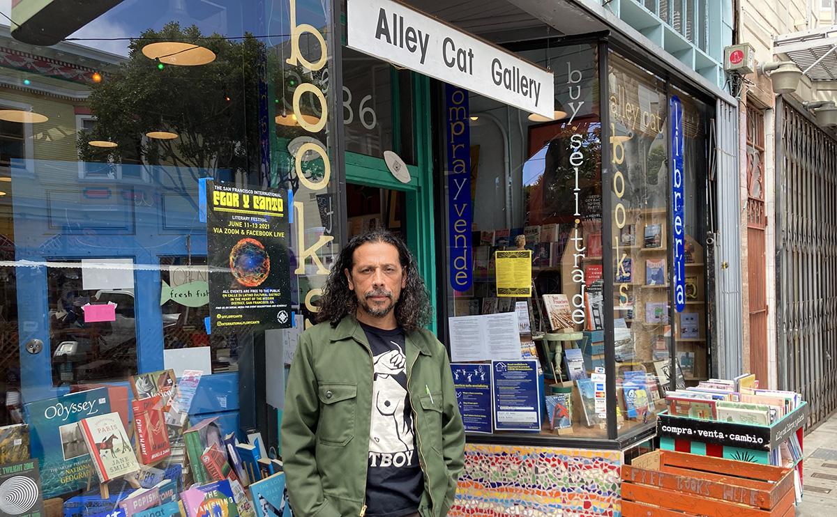 Local poet, Josiah Luis Alderete, organizer of Flor Y Canto