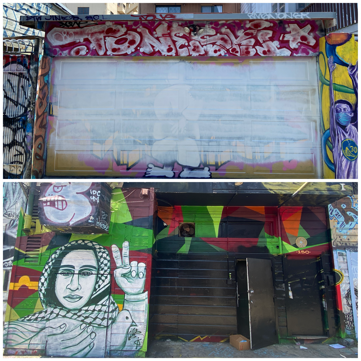 Lilac Alley murals