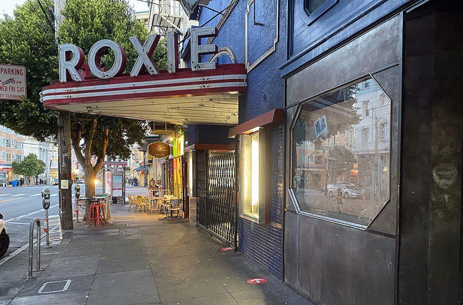 Roxie Theater on Monday evening, June 14, 2021. Photo by Lydia Chávez