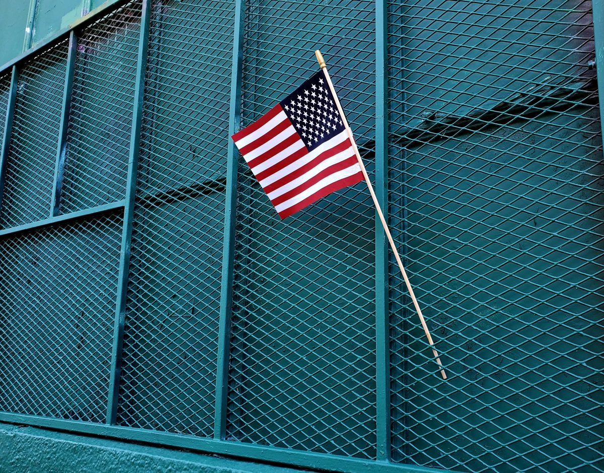 Flag on Albion St