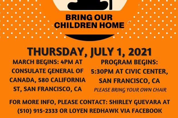 Bring Our Children Home flyer